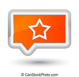 Star icon prime orange banner button