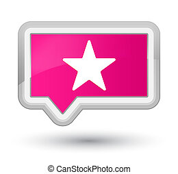 Star icon prime pink banner button