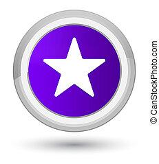 Star icon prime purple round button