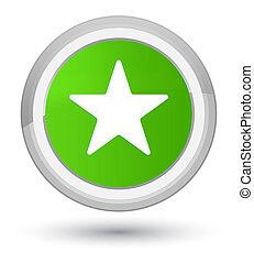 Star icon prime soft green round button