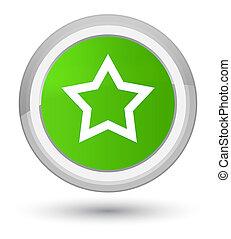 Star icon prime soft green round button
