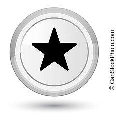Star icon prime white round button