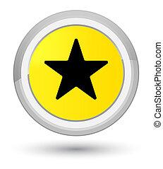 Star icon prime yellow round button