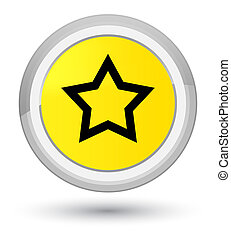Star icon prime yellow round button
