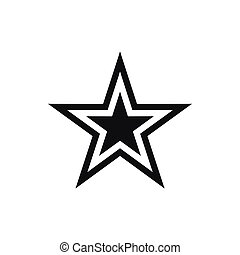 Star icon in flat simple for any design