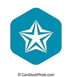 Star icon, simple style
