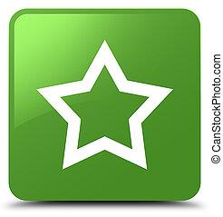 Star icon soft green square button