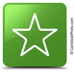 Star icon soft green square button