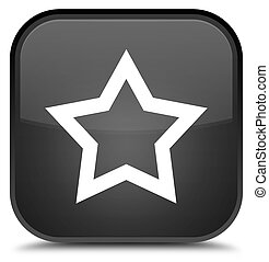 Star icon special black square button