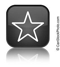 Star icon special black square button