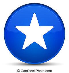 Star icon special blue round button