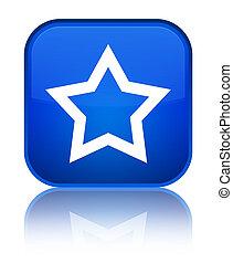 Star icon special blue square button