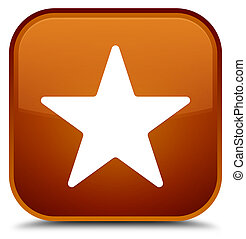 Star icon special brown square button