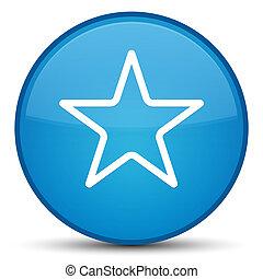 Star icon special cyan blue round button