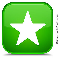 Star icon special green square button