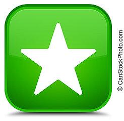 Star icon special green square button