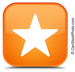 Star icon special orange square button