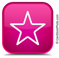 Star icon special pink square button