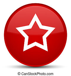 Star icon special red round button