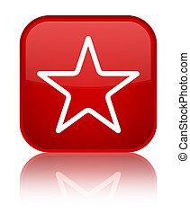 Star icon special red square button