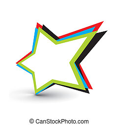 star icon - star design elements with isolated on white...