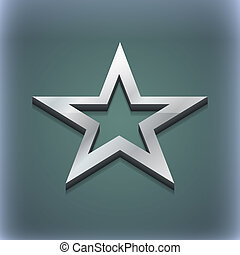 Star icon symbol. 3D style. Trendy, modern design with space for your text . Raster