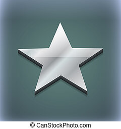 Star icon symbol. 3D style. Trendy, modern design with space...