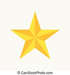 Star icon, trendy flat favorite design on blue background