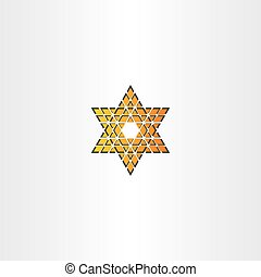 star icon triangle abstract vector