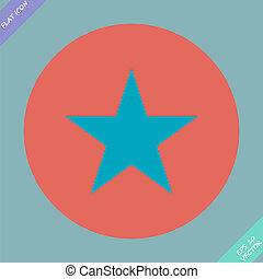star  icon, vector illustration. Flat design style