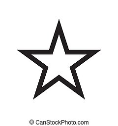 Star icon vector illustration. Free royalty images.