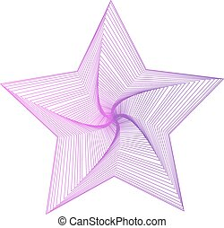 Star icon vector illustration isolated on a white background