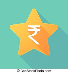 Star icon with a rupee sign