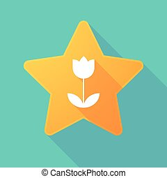 Star icon with a tulip
