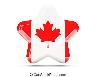 Star icon with flag of canada
