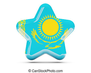 Star icon with flag of kazakhstan
