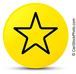Star icon yellow round button
