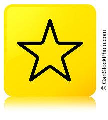 Star icon yellow square button
