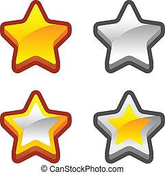 Star icons game set