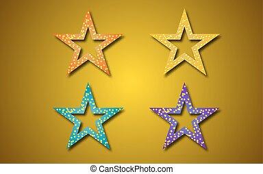 Star icons on orange background