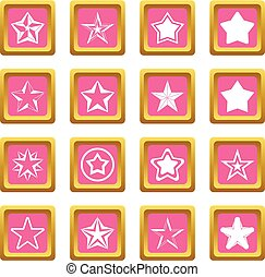 Star icons pink
