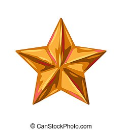 star., illustratie, goud