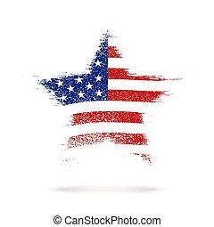 Star in American flag.