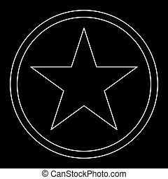 Star in circle  the white path icon .
