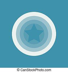 Star in the circle, vector sign, emblem logo