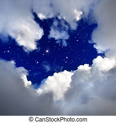 star in The night sky.