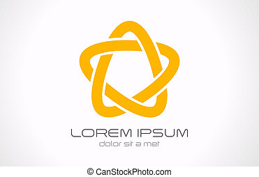 Logo Star infinite loop abstract. Vector icon