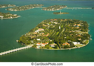 Star Island - Aerial photography of the region of the ...