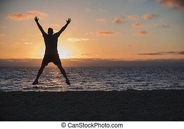 Star Jumps on the Beach