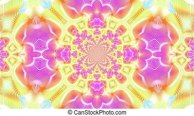 Star kaleidoscope - kaleidoscope effect background for music...